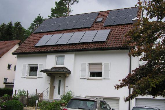 Solaranlage Hausdach
